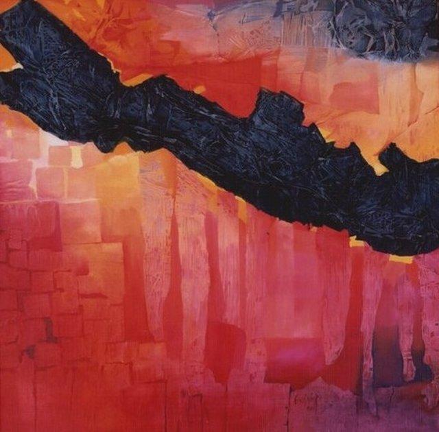 566 - « le feu dans les arbres »